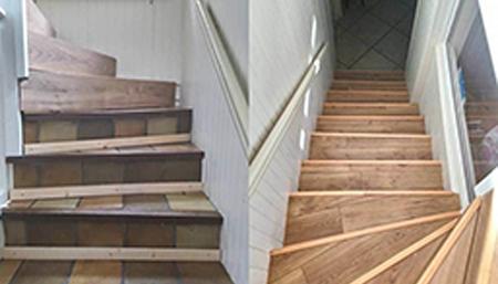 Rénovation escaliers à Banteux